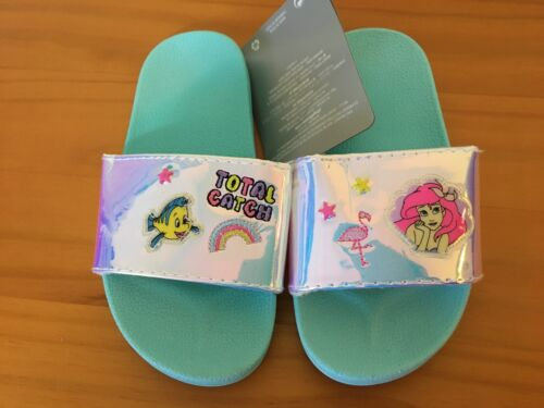 NWT Disney Store Ariel Slides Sandals Shoes Girls Little Mermaid many sizes