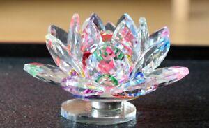 Crystal Lotus Flower Feng Shui Vaastu Fengshui Laxmi Lakshmi Kamal