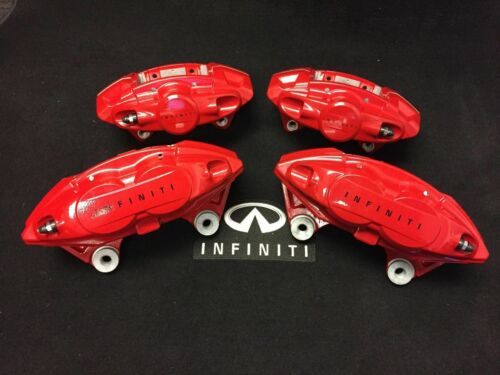 New Genuine OEM Infiniti Red Akebono Calipers Q50 Q60 M37 FX50 G37