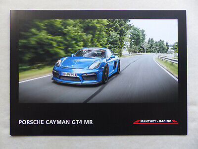 Porsche Cayman Gt4 Mr - Manthey Racing Tuning - Prospekt Brochure 2017 Elegante En El Olor