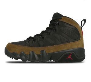 80a536642aca38 New Air Jordan 9 IX Retro Boot NRG Light Olive Black True Red size ...