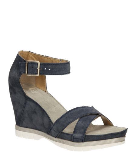 Chaussures Femmes Sandales KHRIO Véritable Cuir Boucle Talon Compense l/'été Taille 36-40 Neuf