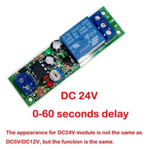 NE555 Time Delay relais Module DC 5 V 12 V 24 V 0-200 S Réglable Switch À faire soi-même