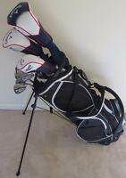 Men's Callaway Complete Golf Set Driver, 3 Wood, Hybrid, Irons Putter Stand Bag