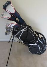 NEW Mens Callaway Golf Set Driver, Fairway Wood, Hybrid, Irons, Putter Bag Stiff