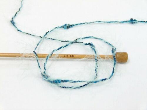 Ice 58534 Soft Acry /& Nylon 50gr 98yd Mint Green Blue Black Eyelash Blend Yarn