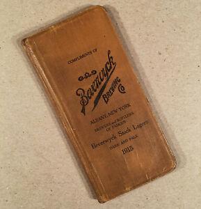 Albany-NY-1915-BEVERWYCK-BREWING-CO-1915-Pocket-Account-Book-Almanac-w-Ads