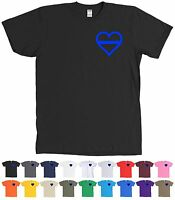 Thin Blue Line Heart Police Support Shirt - - Many Colors