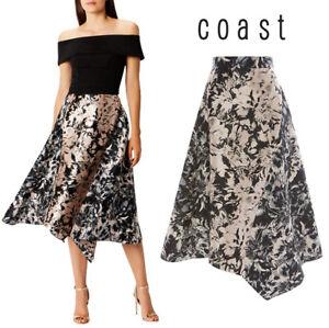 Coast-Nikki-Floral-Jacquard-Asymmetric-Midi-Skirt-Sizes-8-to-18
