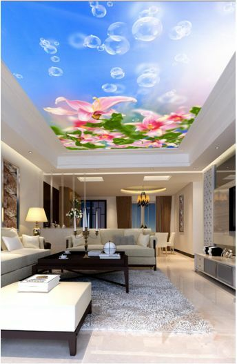 3D Flowers Sky 32 Ceiling WallPaper Murals Wall Print Decal Deco AJ WALLPAPER GB