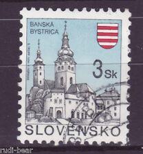 Slowakei Nr.  206  gest.  Städte Baňská Bystrica Neusohl Besztercebánya -6
