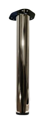 710mm Chrom Tischfüße Metall Möbelbeine Möbelfüße Tischbeine Ø60mm