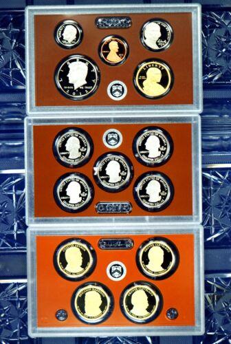 Proof Set 2012-s U.S Clad 14 coin Proof set 3 sets in 1 .25 set /& $1 set