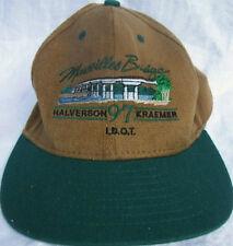 Masseilles Bridge Halverson 97 Kraemer Men Boys Hat Cap Large XL Green Brown New