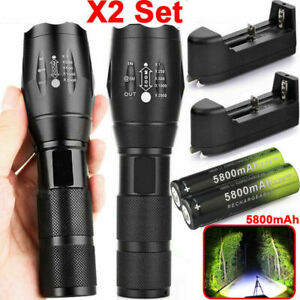 90000LM-T6-Zoomable-Tactical-Military-LED-Flashlight-18650-Torch-Work-Light-Camp