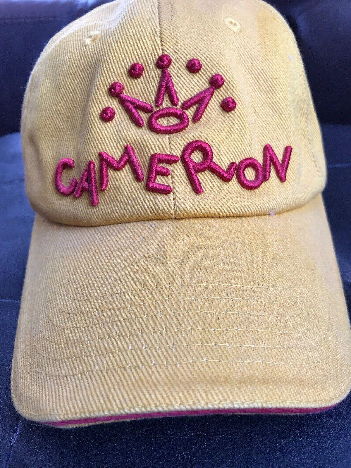 Nuevo Muy Poco Común Retro Scotty Cameron ajustable de 7 puntos Amarillo Corona Sombrero hacia atrás