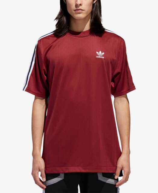 adidas B Side 3 Stripe Trefoil Soccer Jersey Shirt Noble Maroon ...