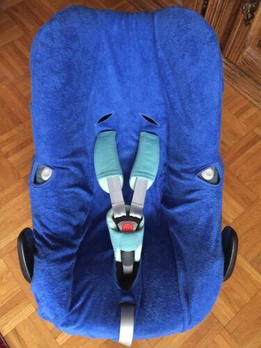 Rock NEU blau Plus Sommerbezug Schonbezug Frottee für Maxi-cosi Pebble