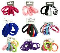 6 Soft Endless Hair Elastics Bobbles Snag Free Ponytail Holder Hair Bands