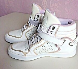 wholesale dealer 3d9e3 43adc Image is loading ADIDAS-ORIGINALS-ADI-RISE-MID-G0935-White-Trainers-