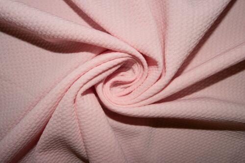 Blush Pink #141 Bullet Double Knit Stretch Poly Lycra Spandex Fabric BTY