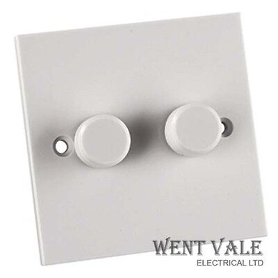 Alto Dimmer Switch 1 Gang 1 Way 250w Mains Rotary MOULDED Standard White