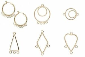 10 bright gold earring hoops loops links drops chandelier bead image is loading 10 bright gold earring hoops loops links drops aloadofball Choice Image