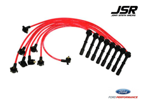 Ford Racing Parts >> Details About 96 98 Mustang Cobra Ford Racing Performance Parts Red Spark Plug Wires 9mm
