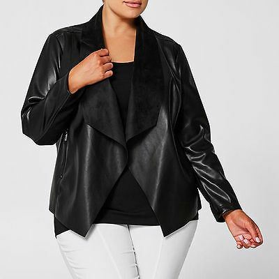 NEW Belle Curve Waterfall Jacket - Black
