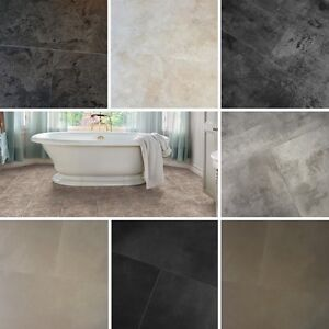 Image Is Loading MODULEO Trade Waterproof Vinyl Click Slate Stone Floor