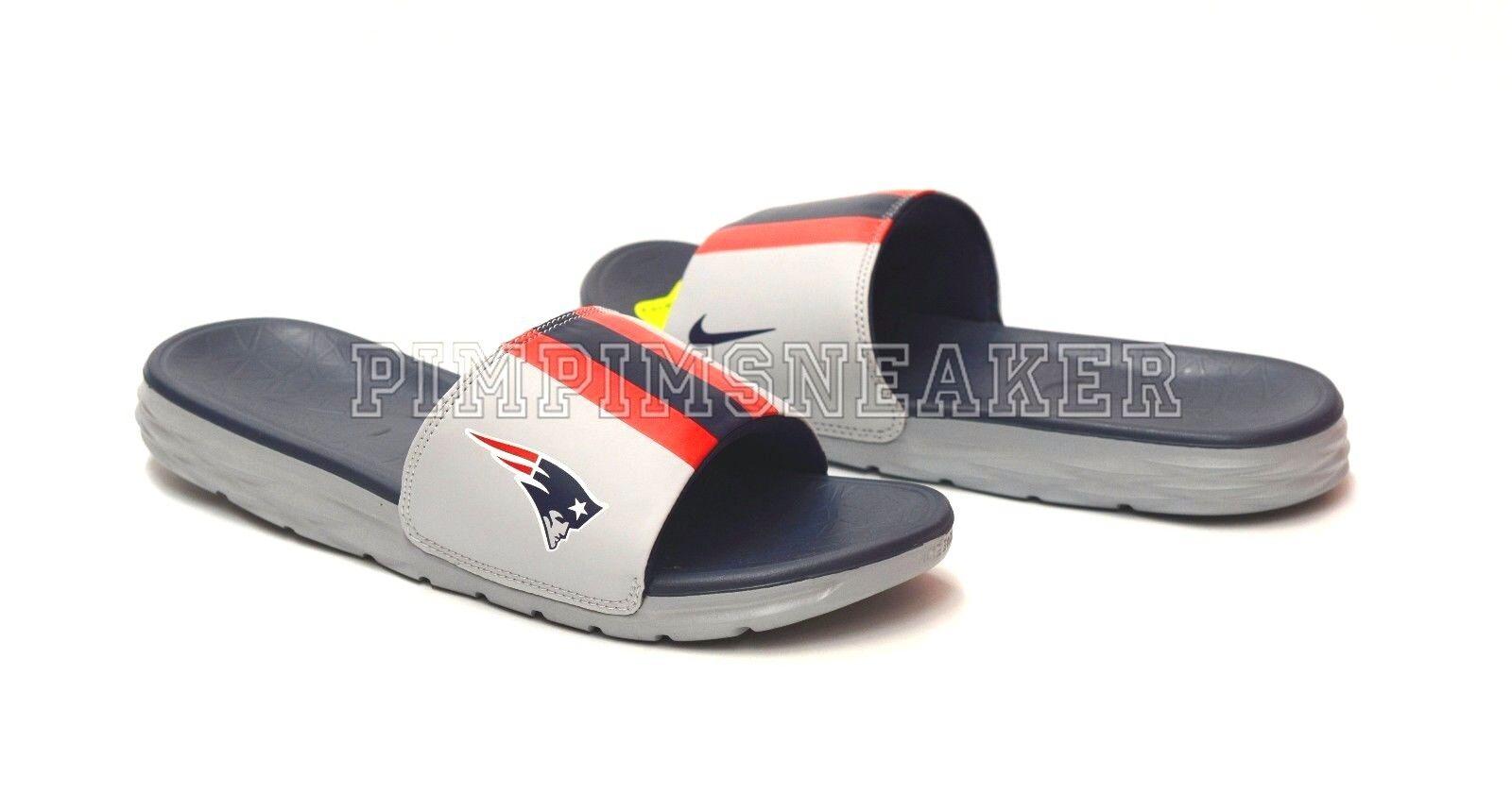 Men`s Benassi Solarsoft NFL  Patriots Sandals 831256 046