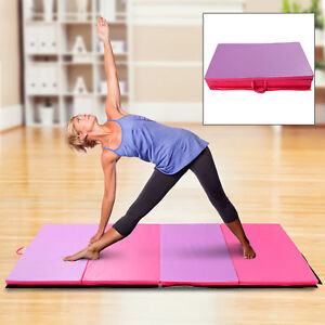 "6' × 4' × 2"" Gymnastics Exercise Mat Folding Panel Aerobics Stretching Stretch"