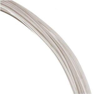 22Ga Sterling Silver SQUARE Wire ( 1 OZ / 26 FT.) HALF HARD Made In USA #622S