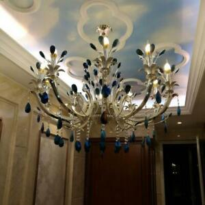 67cm Pea Tail Blue Crystal Ceiling