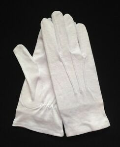 White Cotton Dress Gloves Slip-On Extra Large (Dozen) - eBay
