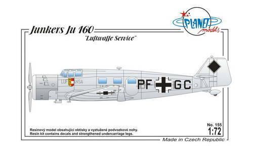 PLANET MODELS 155 Junkers Ju-160  Luftwaffe Service  1 72