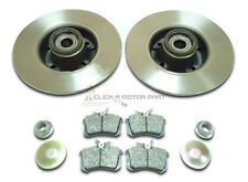 RENAULT MEGANE MK2 02-08 REAR BRAKE DISCS PADS ABS RINGS & WHEEL BEARING