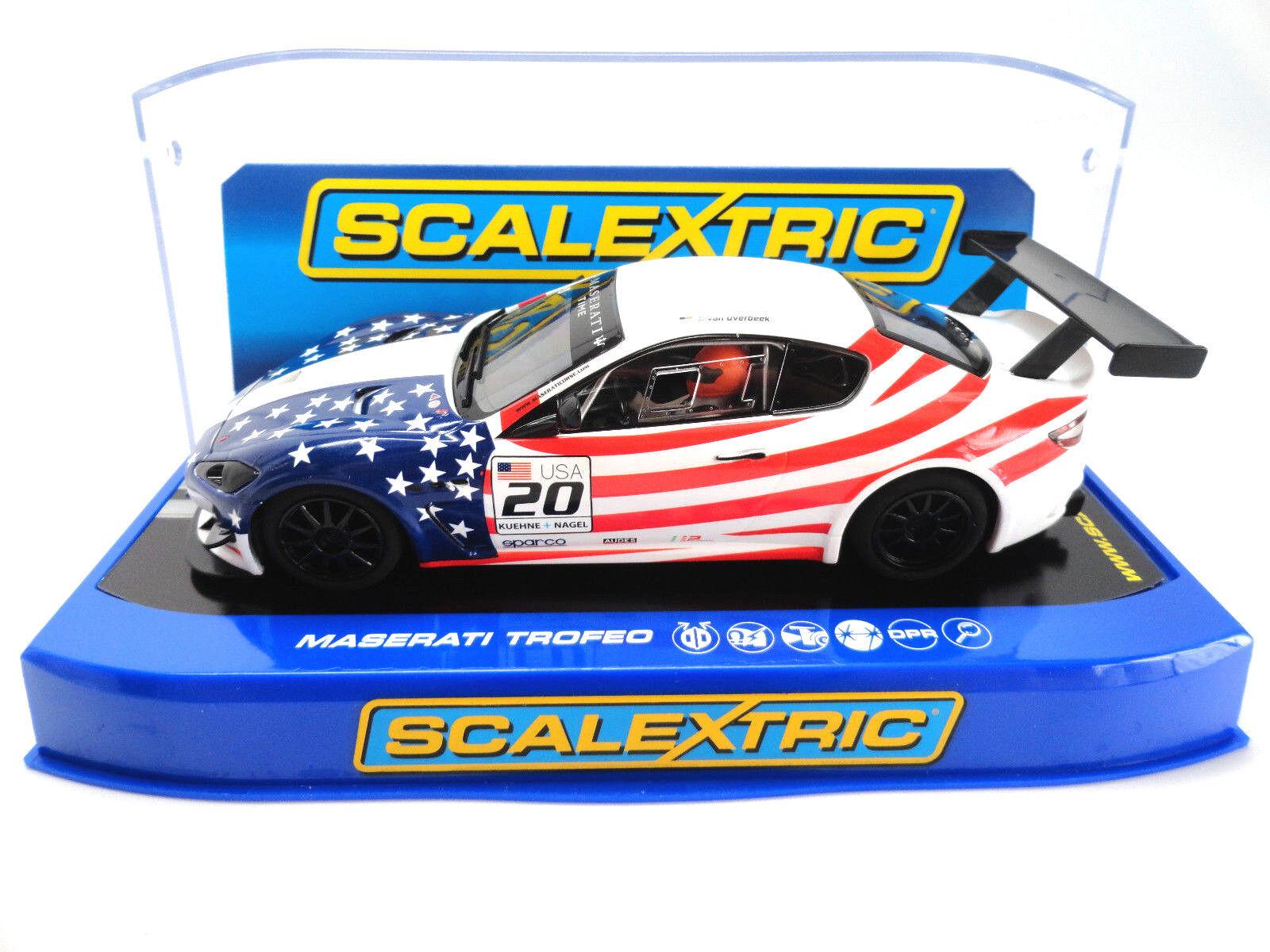 Scalextric  USA  Maserati Trofeo DPR W  Lights 1 32 Slot Car C3603