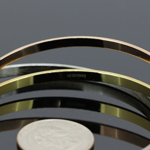 Women/'s Stainless Steel Tri-Tone Gold finition Bracelet Jonc//30g//BR23