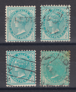 New-South-Wales-SG-333-333a-333b-very-worn-plate-used-1905-08-p-Chalky-pa