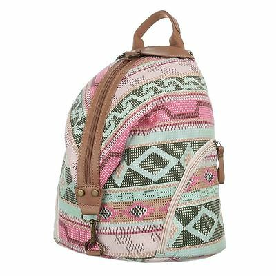 ZAINO zainetto colorato fantasia ETNICA atzec borsa fashion rosa verde marrone