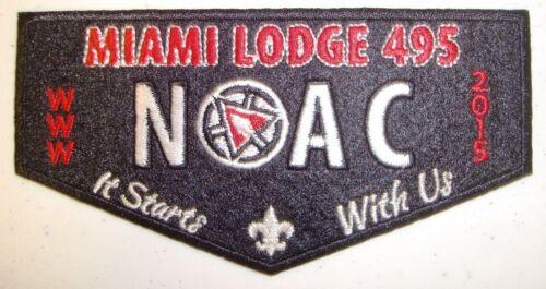 MIAMI VALLEY 495 PATCH 2015 NOAC OA 100TH ANN CENTENNIAL FLAP FELT SMY DELEGATE