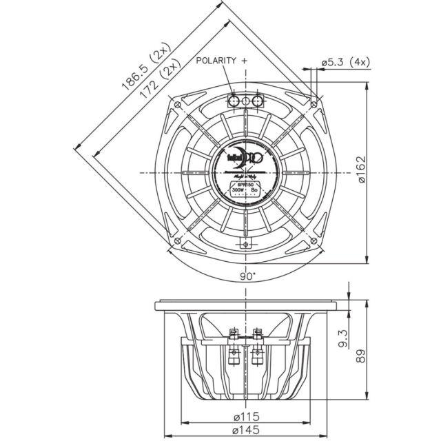 Faital Pro 6pr150 6 Loudspeaker Authorized Distributor For Sale
