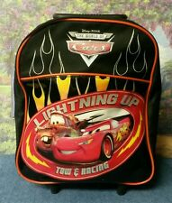 "Disney Pixar The World of Cars 12"" Lightning Up Tow & Racing Back Pack"
