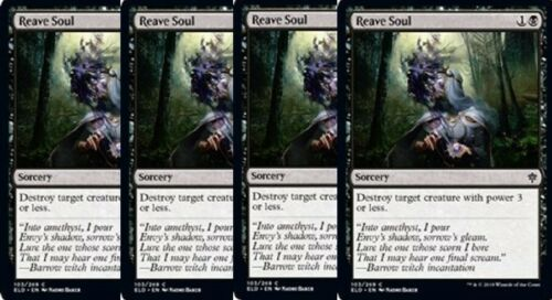 NM 4x Reave Soul Throne of Eldraine Black Common