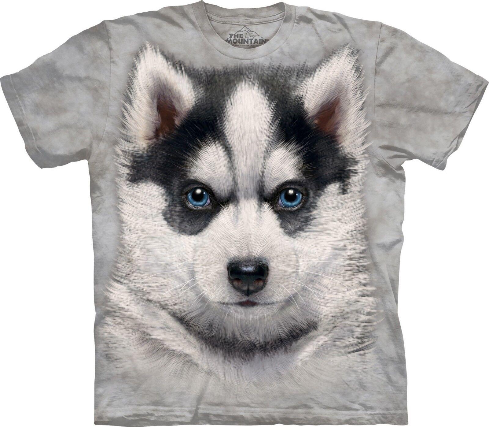 Siberian Husky Puppy Dog T Shirt Adult Unisex The Mountain