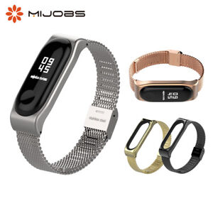 Miband-3-Metal-Strap-Bracelet-Stainless-Steel-for-Xiaomi-Mi-Band-4-NFC-Wristband
