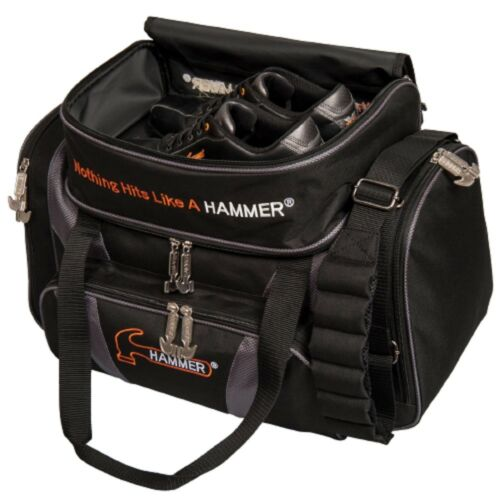Hammer 2 Ball Deluxe Tote Bowling Bag with shoe pocket Carbon Black