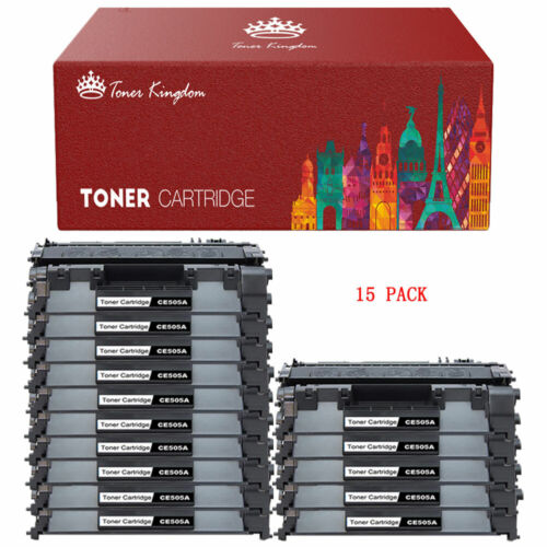 15 Pack CF280A 80A Toner Cartridges for HP Laserjet Pro 400 M401 Pro 400 M425
