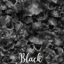 Reaper Skulls Black Vinyl Wrap Air Release Matte Finish 12x12